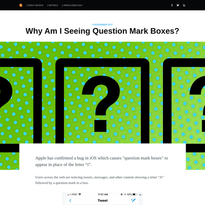 Why Am I Seeing Question Mark Boxes?
