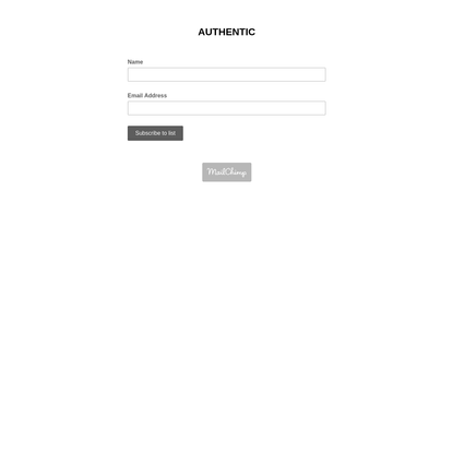 AUTHENTIC NEWSLETTER SUBSCRIPTION FORM