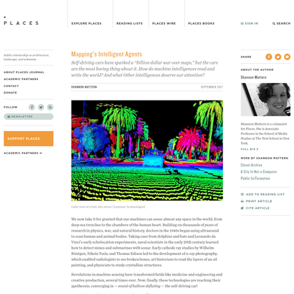 Mapping's Intelligent Agents