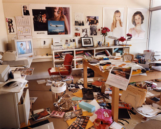 Sofia Coppola's office at her home in Hollywood. Shot for Vogue, Los Angeles, California, 1999.