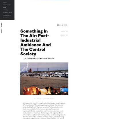 Something In The Air: Post-Industrial Ambience And The Control Society