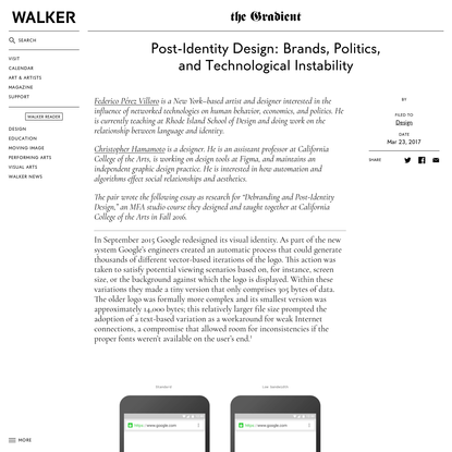 Post-Identity Design: Brands, Politics, and Technological Instability