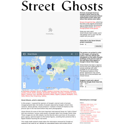 Street Ghosts project - Google Street View made Street Art and Public Concern