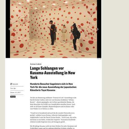Lange Schlangen vor Kusama-Ausstellung in New York   Monopol - Magazin für Kunst und Leben