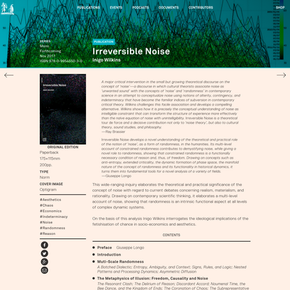 Urbanomic: Irreversible Noise