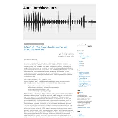 Aural Architectures