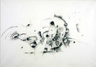 Lee Bontecou Drawing 1961