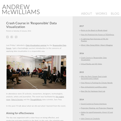 Crash Course in 'Responsible' Data Visualization | Andrew McWilliams