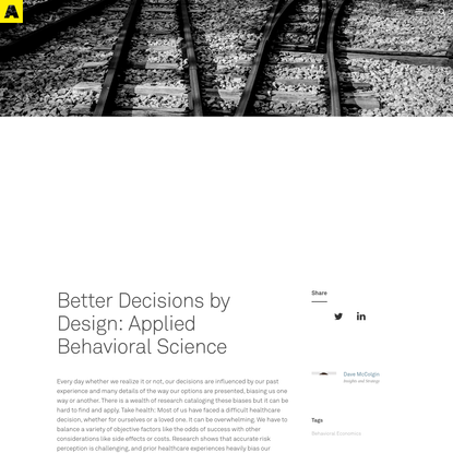 Better Decisions by Design: Applied Behavioral Science - Artefact