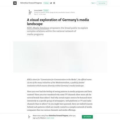 A visual exploration of Germany's media landscape - Relentless Forward Progress - Medium