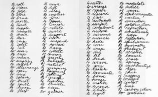 "Richard Serra. ""Verb List,"" 1967"