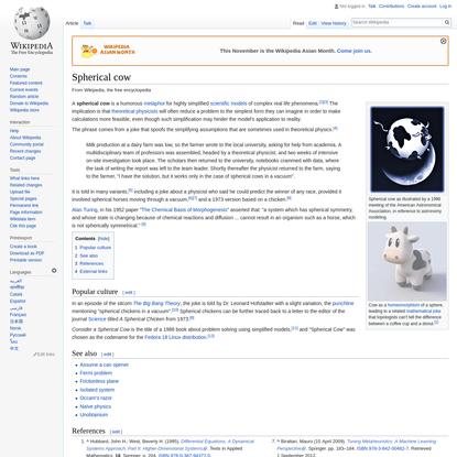 Spherical cow - Wikipedia