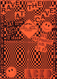 Rave At The Cave flyer, c. late 80s One...