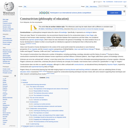 Constructivism (philosophy of education) - Wikipedia