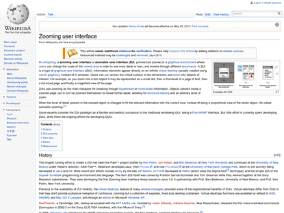 Zooming user interface - Wikipedia, the free encyclopedia