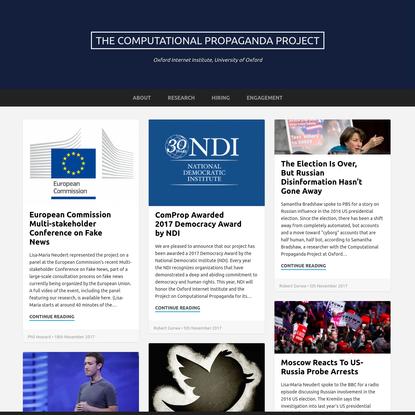 The Computational Propaganda Project