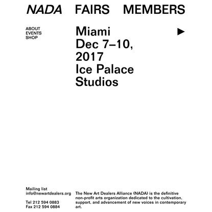 Home - New Art Dealers Alliance (NADA)