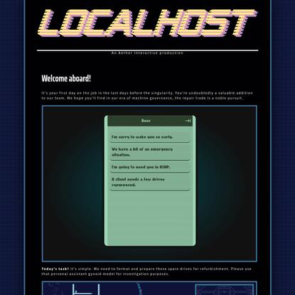LOCALHOST by Interactive, slimekat, Christa Isobel Lee, penelope evans