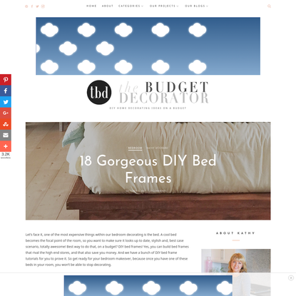 18 Gorgeous DIY Bed Frames * The Budget Decorator