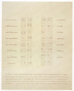 Brian O'Doherty, Structural Play: Violence, 1968