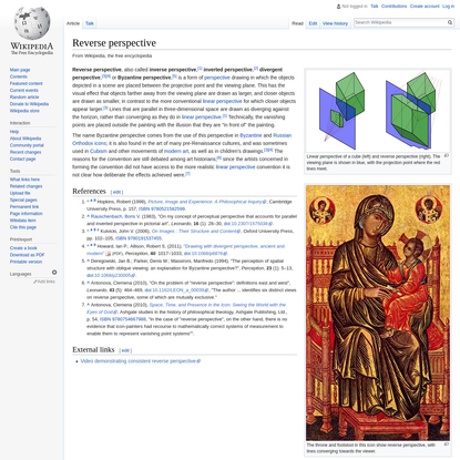 Reverse perspective - Wikipedia