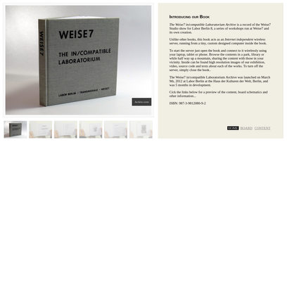 The Weise7 in/compatible Laboratorium Archive