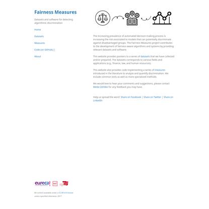 Fairness Measures - Detecting Algorithmic Discrimination