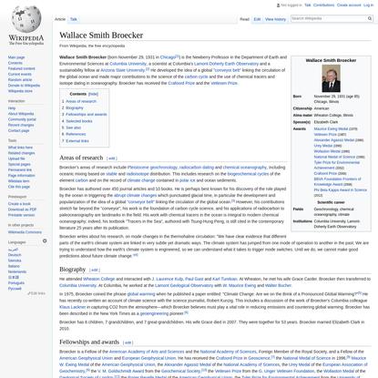 Wallace Smith Broecker - Wikipedia