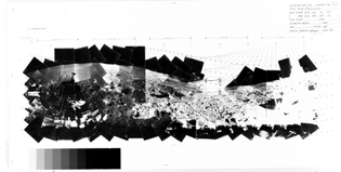 NASA Surveyor 7 Photomosaic, 1968