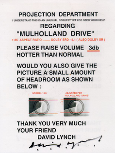 David Lynch Mulholland Drive Message