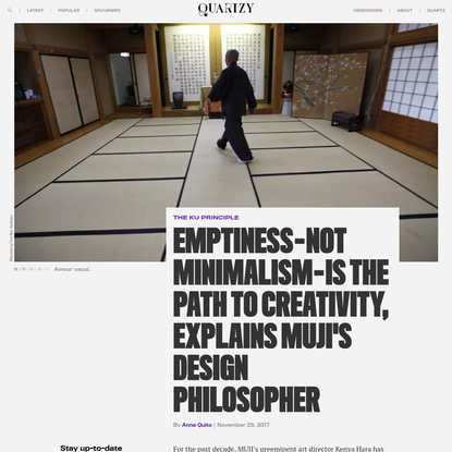 Emptiness is the path to creativity, explains MUJI's design philosopher