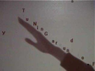 Camille Utterback & Romy Achituv - Text Rain, 1999