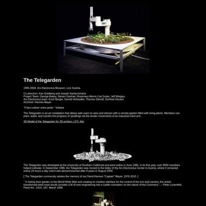 The Telegarden Website