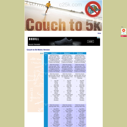 Couch to 5k - C25K Running Program