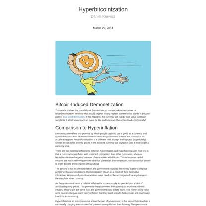 Hyperbitcoinization   Satoshi Nakamoto Institute
