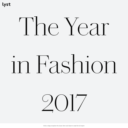 The Year in Fashion 2017