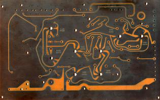 Rear, Tektronix 360 oscilloscope prototype PCB