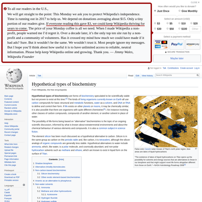 Hypothetical types of biochemistry - Wikipedia