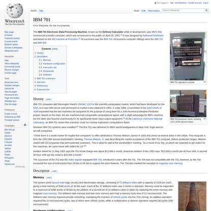 IBM 701 - Wikipedia