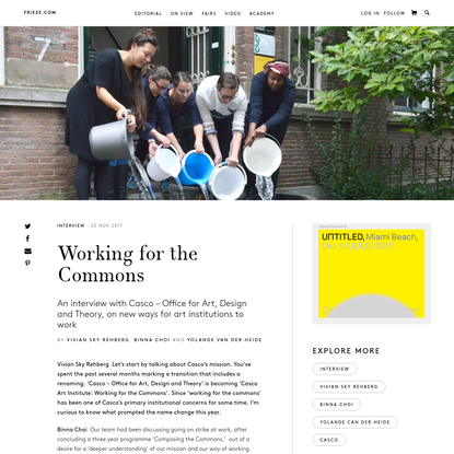 Working for the Commons