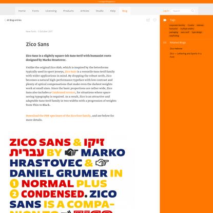 Typotheque: Zico Sans