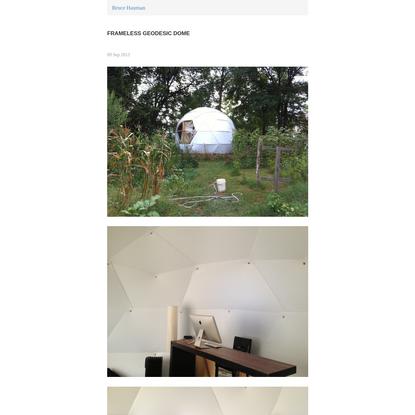 Frameless Geodesic Dome