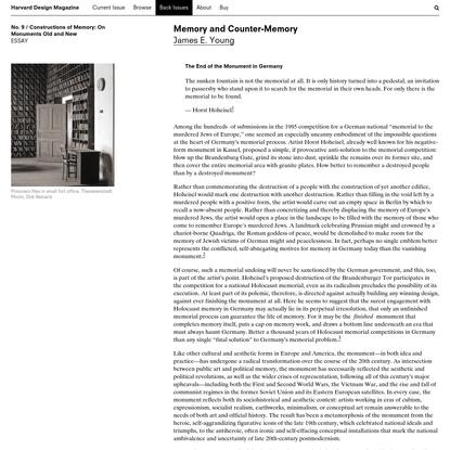 Harvard Design Magazine: Memory and Counter-Memory