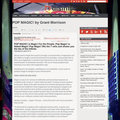 POP MAGIC! by Grant Morrison - disinformation