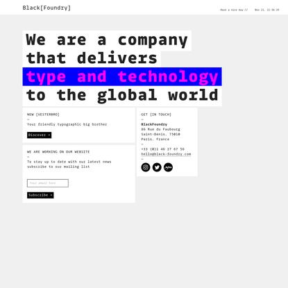 Black[Foundry]   The Type+Tech® company