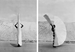 Rebecca Horn, White Body Fan (1970)