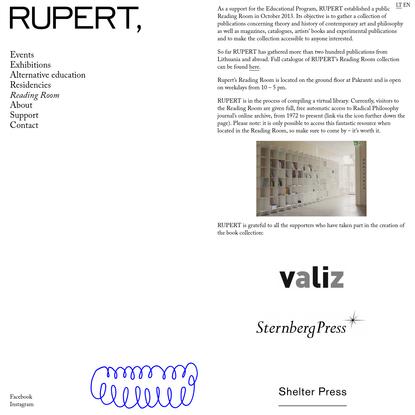 Reading Room - Rupert