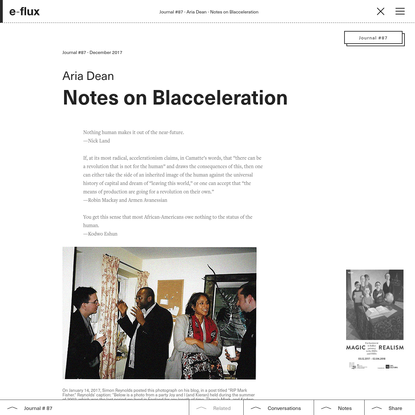 Notes on Blacceleration