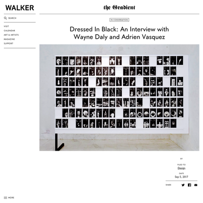 Dressed In Black: An Interview with Wayne Daly and Adrien Vasquez