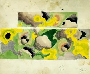 Charles Burchfield, Untitled (Camouflage design), 1918